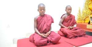 Ugandan buddhist novice monks