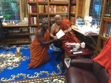 Bhante Buddharakkhita pays a courtesy Visit to Most Ven. Dr. Sitagu Sayadaw