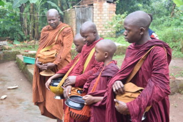 Local People Practice Alms-Giving